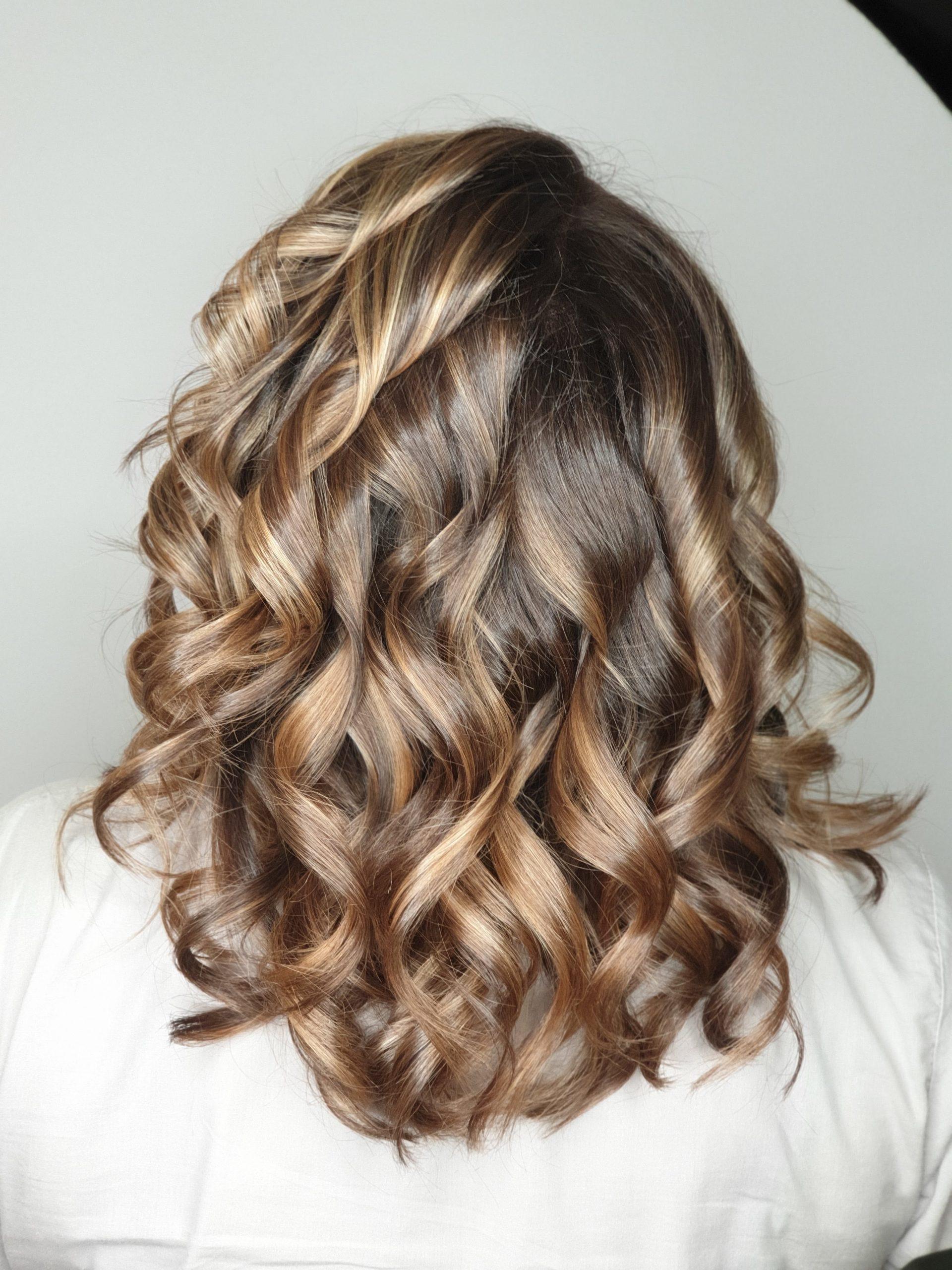 balayage soft pe par blond natural mediu