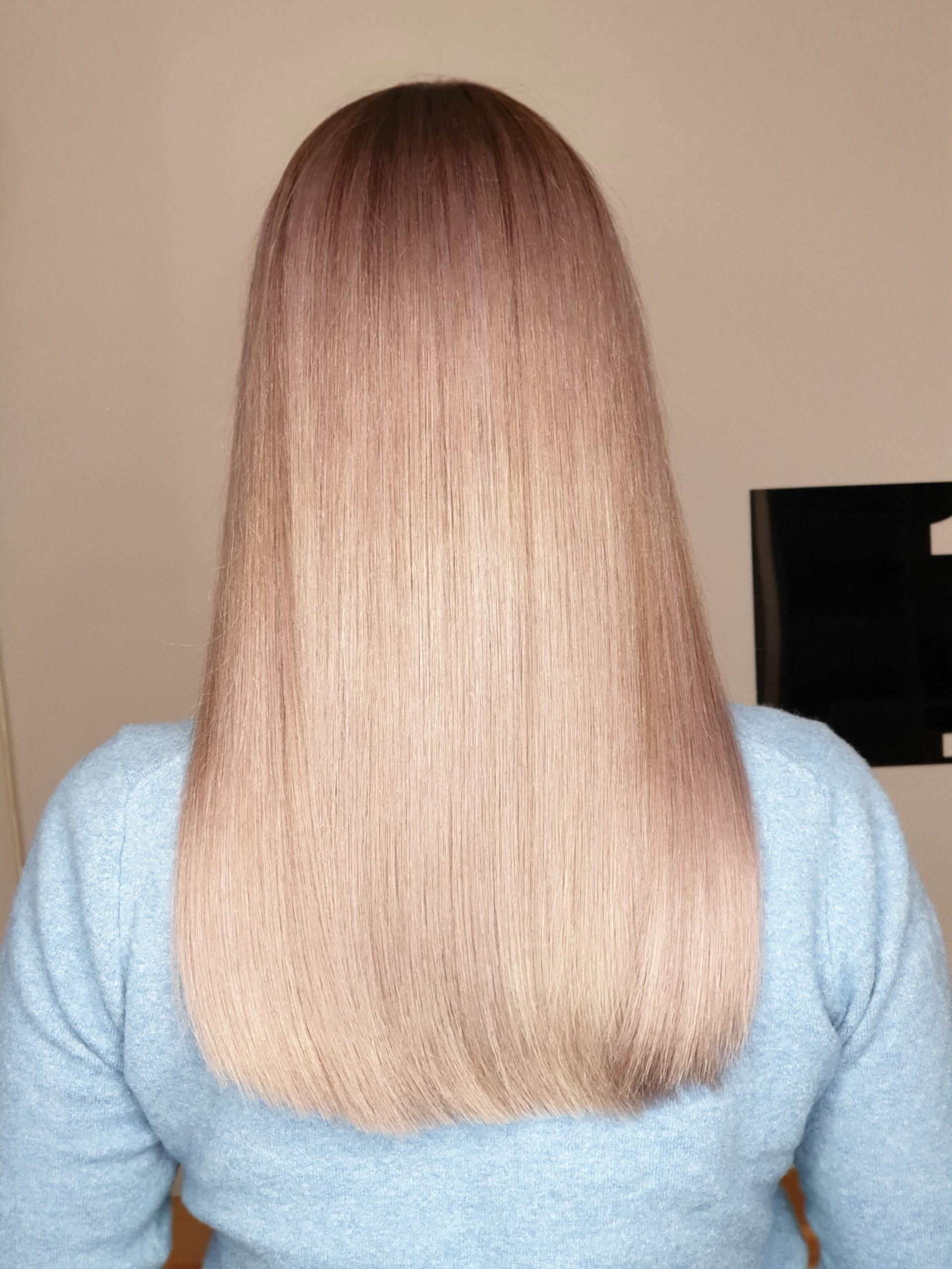 ombre cu blond rose