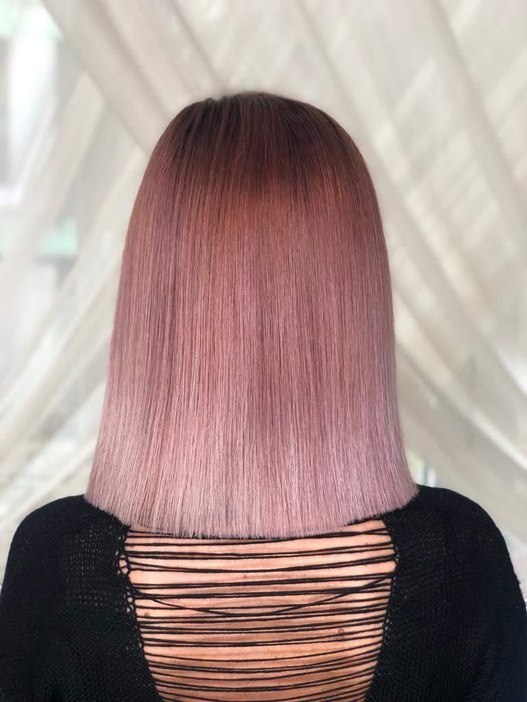 par ombre blond roze