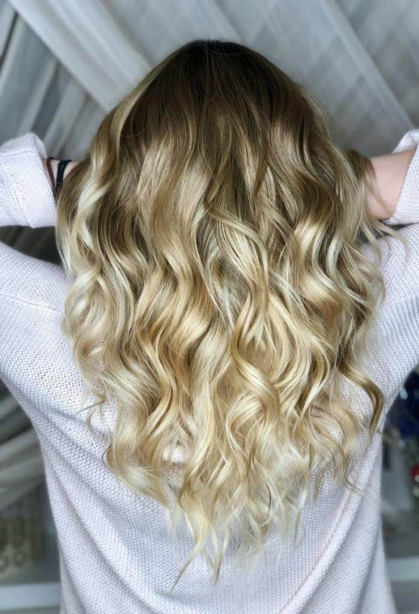 ombre cu blond luminos